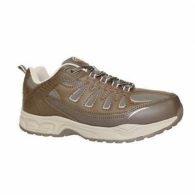 19a2523998bd4a Athletic Works Men s Brown Wide Width Memory Foam Athletic Sneakers Shoes   9-13