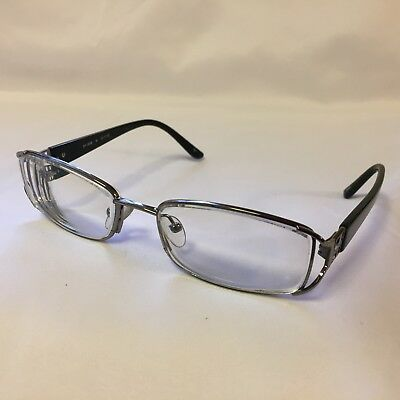 87cd57dbbff South Hampton SH 2008 Womens Eyeglass Frames 52-17-135 Black Silver Flex  Hinge