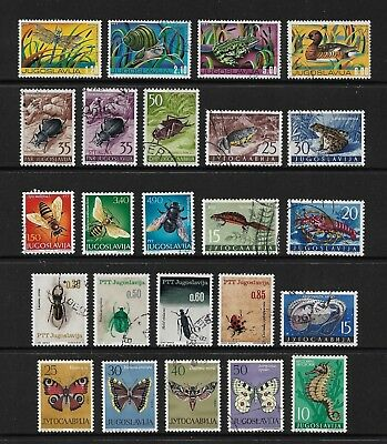 YUGOSLAVIA mixed collection No.34, incl Insects Marine Life Butterflies Moths