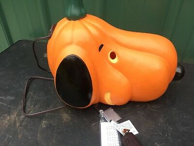 Peanuts Snoopy Dog Pumpkin Blow Mold Yard Decor Halloween
