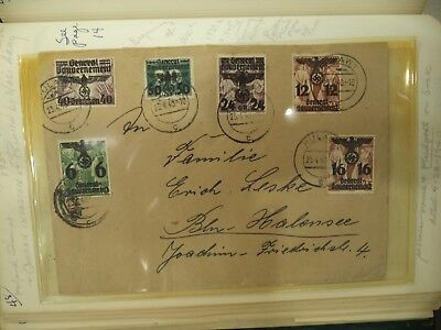 Germany Wwii Nazi Invasion Poland Over Print Fieldpost 1940+ 12 Milk Tops Stamps