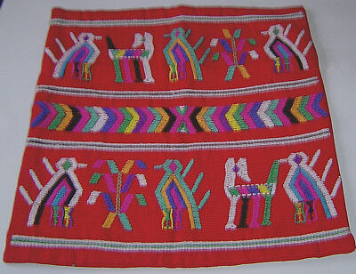 Fair Trade Pillow Cover Hand Woven Back Strap Loom Guatemala Northern Highlands