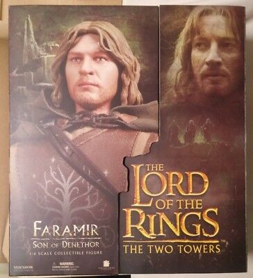 """Sideshow Collectibles Lord of the Rings LOTR FARAMIR 12"""" Action Figure NIB"""