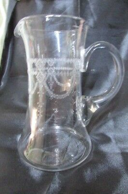 Antique Victorian Glass Jug