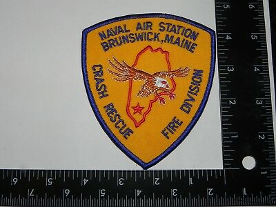 Naval Aviation  Patch- - Naval Air Station -Brunswick, Maine- -Crash & Rescue