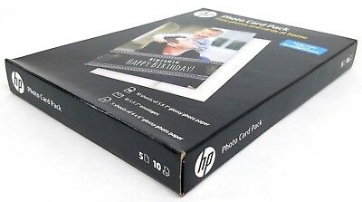NIB HP Inkjet Printer Glossy Photo Card Picture Paper Pack, 887758496787