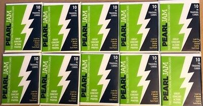 PEARL JAM 10 PACK TRADING CARDS- THE HOME SHOWS Seattle