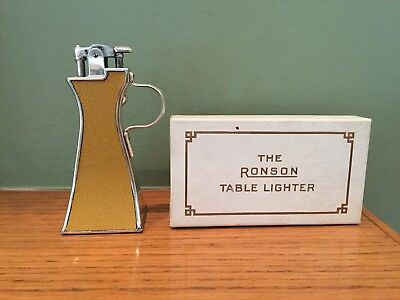 LOOK - Extremely Rare 1928 Ronson De-Lite Table Top Lighter w/ Box & Instruction