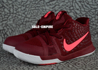finest selection c56cb 1d603 Nike Kyrie 3 TD 869984-681 Toddler Baby Shoes Team Red Hot Punch White  Irving