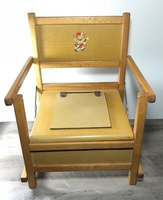 Vintage Wood Potty Training Chair