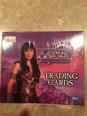 Xena Warrior Princess Trading Cards sealed box Topps Lucy Lawless