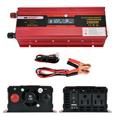 Peak Car LED Power Inverter DC 12V to AC 110V Dual Converter Charger 600W/3000W