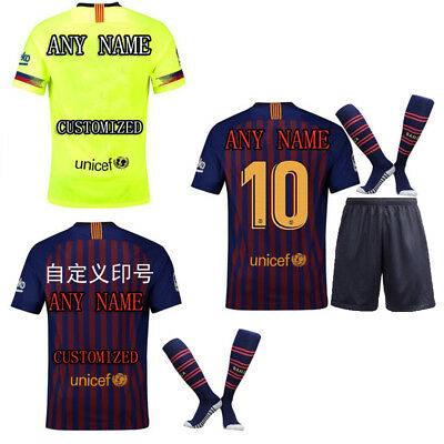 2018-19 New Men's Barcelona Messi coutinho Soccer Jerseys Football Team Uniforms