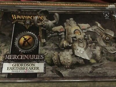 warmachine mercenaries ghordson earthbreaker rhulic colossal