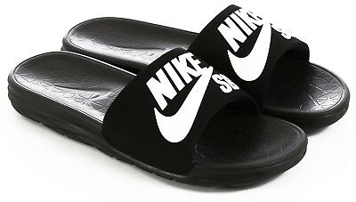 1d74de6b5a3a Nike SB Benassi Solarsoft Men s Slides Black White 840067-001  40 sandals