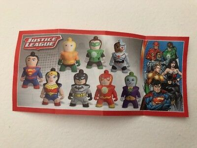 Kinder surprise DC Justice League Toy and pamphlet- You Choose