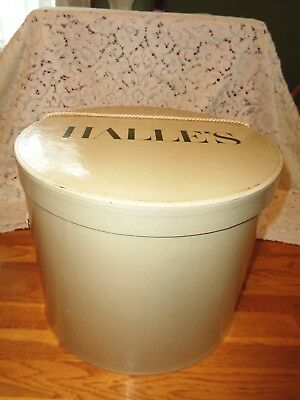 Fabulous Vintage Halle'S Department Store Hat Box