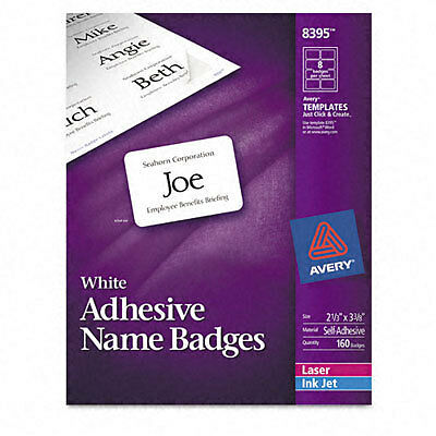 """Avery 8395 Name Badge Label - 2.33"""" Width X 3.37"""" Length"""