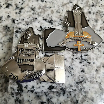 Bringing Peace Through Destruction Weapons Challange Coin 2W1 462 Air Force