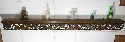 Antique Hand Carved Architectural GOTHIC Wall Shelf 19th C. French (1 of 2) 68""