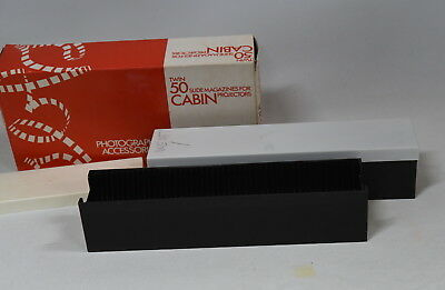 Pair of Cabin 35mm Slide Projector Cartridges/Magazines Size 50 Slide