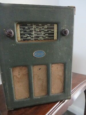 Rear Vintage Antique Valve Radio vibrex Battery Operated