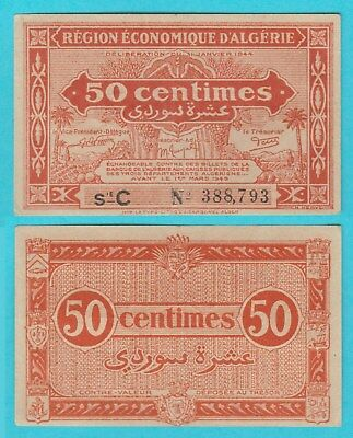 1944 French Algeria 1/2 50 Centimes C 388793