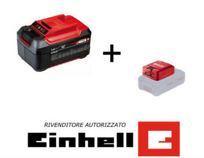 EINHELL BATTERIA AL LITIO DA 5,2 Ah 18V POWER X-CHANGE PXC + ADATTATORE USB