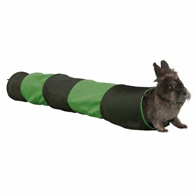 Rabbit Toy Tunnel Ferret Guinea Pig Fabric Fold Away 18cm x 1.3m lay Exercise