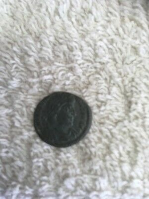 small bronze roman coin in great condition for age.unresearched detector find