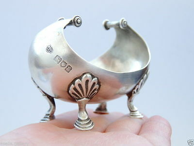 Rare Vintage Antique Old England Sterling Silver Miniature Bowl/Dish for Caviar