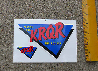 Original 1980s KRQR The Rocker 97.3 FM Decals San Francisco Area  Radio Station