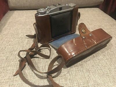 Vintage Camera Agfa Isolette II With Leather Case