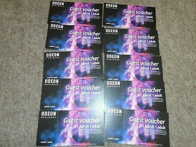 10 Odeon Cinema Tickets Expire 31/7/2019