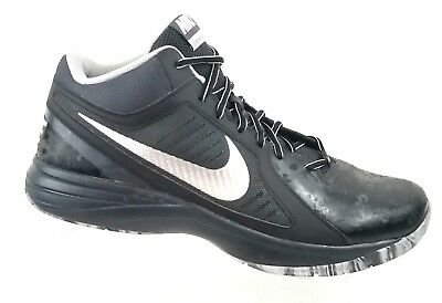de4afc9643e Nike Mens The Overplay VIII Black Basketball Shoes 637382-015 Sz 14 US    48.5