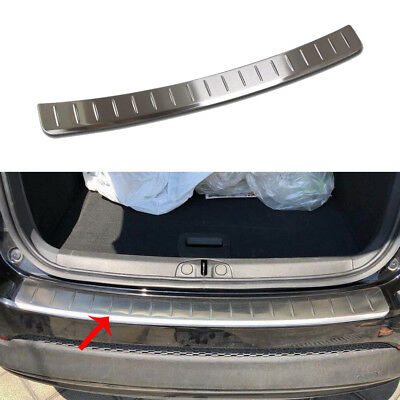 fit 2016-18 Fiat 500X Stainless Steel Rear Bumper Outside Guard Plate Cover Trim