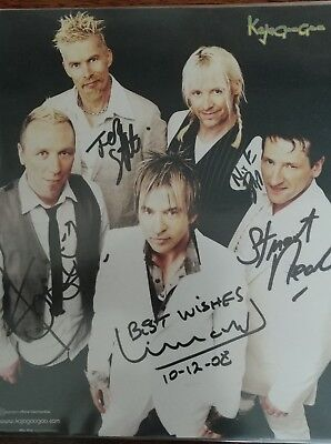 Kajagoogoo Signed 10x8 Photo signed by all members 2008