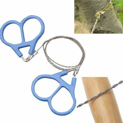 1X 70cm Metal Hand Chain Fret Saw Survival Outdoor Steel Wire Chain Saw Portable