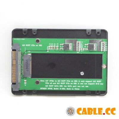 SFF-8639 U.2 to NGFF M.2 NVME M-key PCIe SSD Case Enclosure for Replace SSD 750