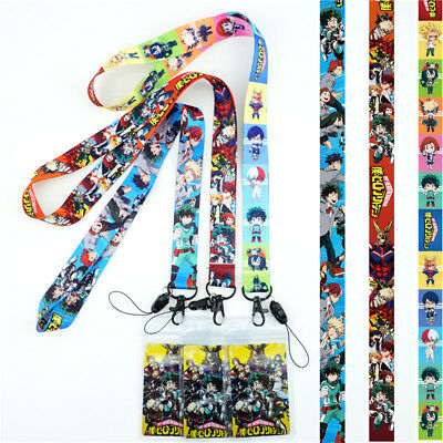 Anime My Hero Academia Lanyard Neck Strap Charms Cell Phone Rope KeyChain Gift