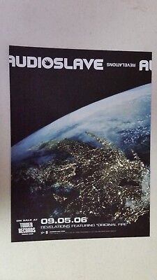 """AUDIOSLAVE """"Revelations"""" Full Page AD magazine clipping Chris Cornell 2006"""