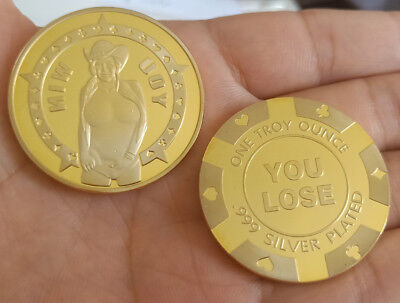 Sexy Beauty Cowgirl You win Coin YOU LOSE Collection Souvenir Coins Man gift