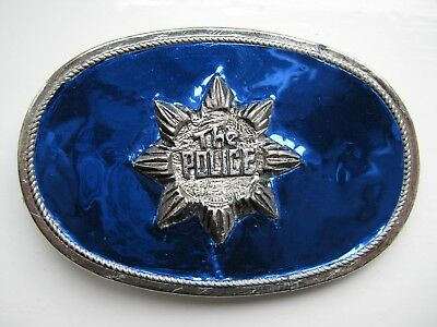 The Police rock band 1970s belt buckle (not pacifica)