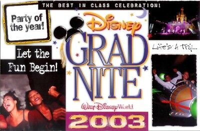 Disney 2003 Grad Night Invitation to Book Brochure