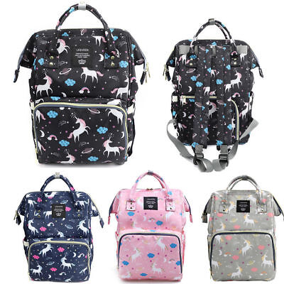 LEQUEEN Mummy Bag Backpack Baby Nappy Diaper Changing Large Multi-functional US