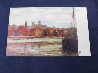 Vintage Postcard Tuck Oilette Lincoln from Brayford Scenic View.