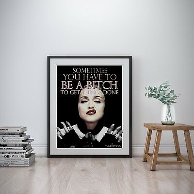Madonna Inspirational Wall Art Print Motivational Quote Poster Decor Gift her