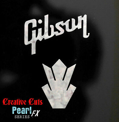Gibson & Crown Headstock Decal MOP Premium Vinyl Decal Inlay + more options
