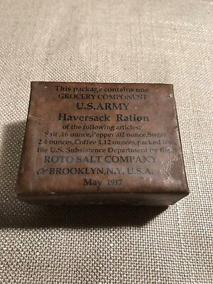 WWI Mexican border US Army 1908 Haversack ration Roto Salt 1917