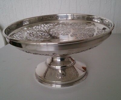 Vintage Silver Plated Tazza Footed Comport Dish by Martin Hall & Co
